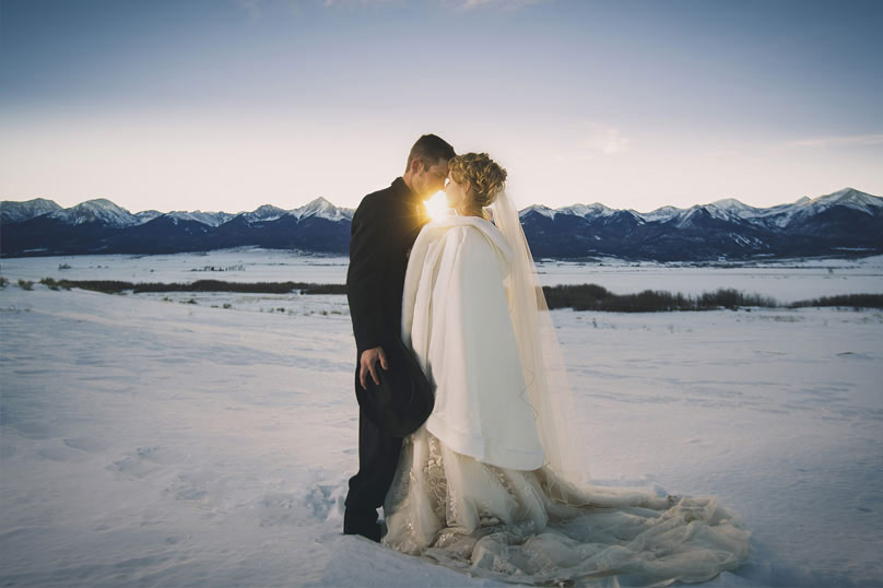 Gorgeous winter wedding bride