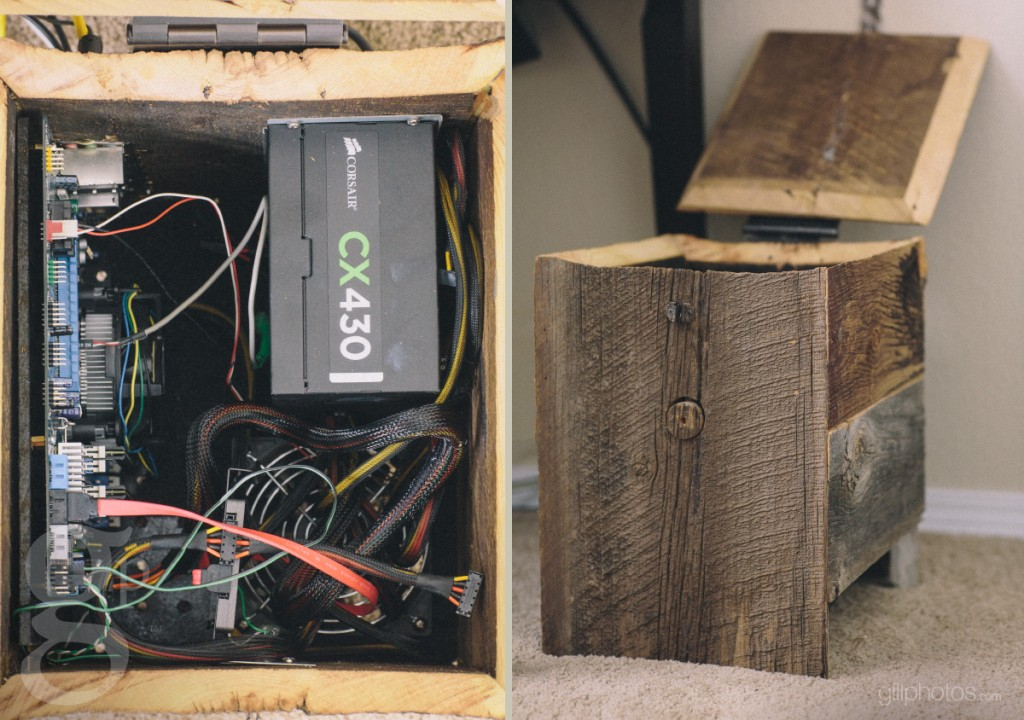 Wood Computer Case made from Rustic Barnwood